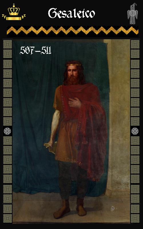 Rey Visigodo Gesaleico (507-511)