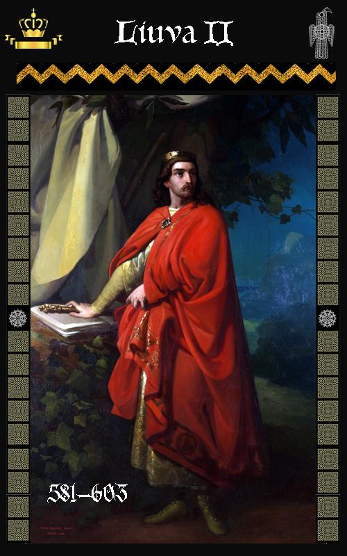 Rey Visigodo Liuva II (601-603)