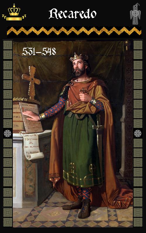 Rey Visigodo Recaredo (531-548)