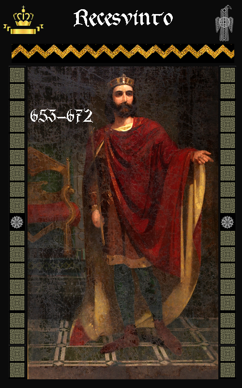 Rey Visigodo Recesvinto (653-672)