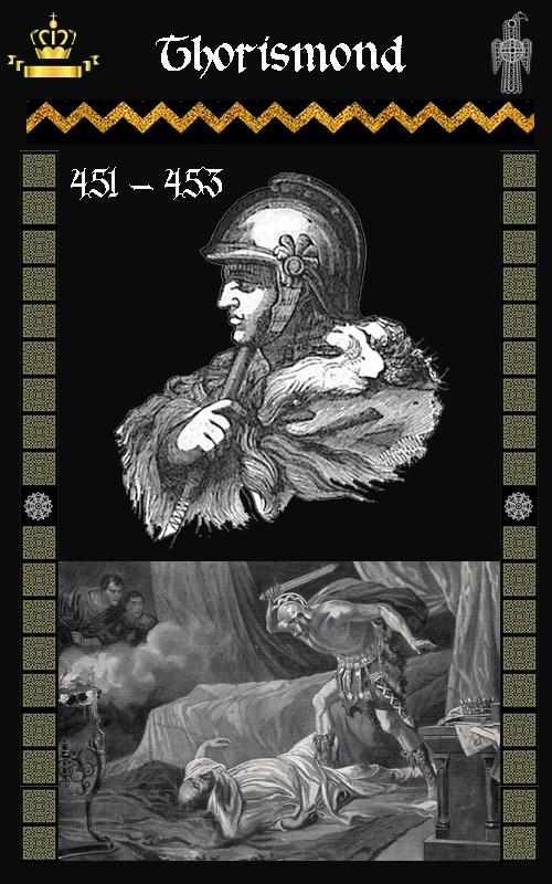 Rey Visigodo Turismundo / Thorismund (451-453)