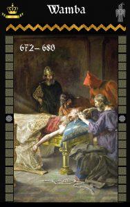 Rey Visigodo Wamba (672-680)