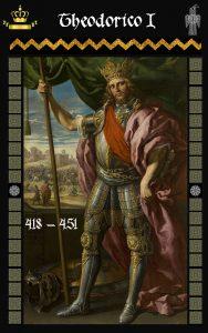 Rey Visigodo Theodorico I (418-451)